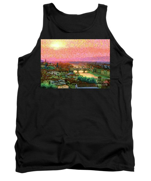 Ponte Vecchio Sunset Florence Tank Top