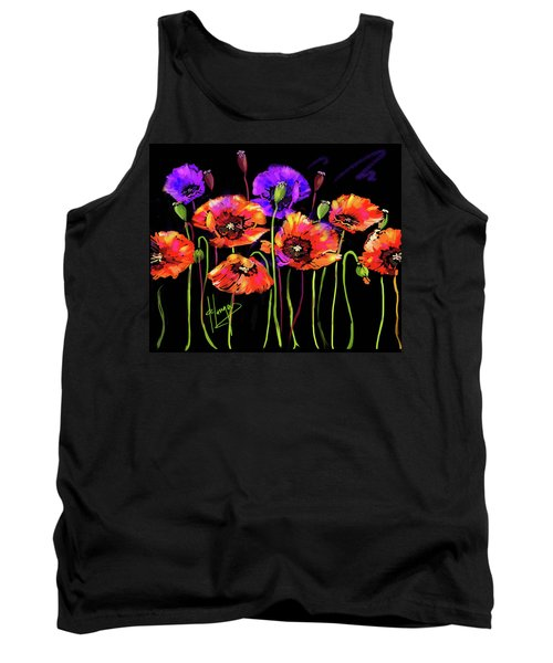 Poppies Tank Top by DC Langer