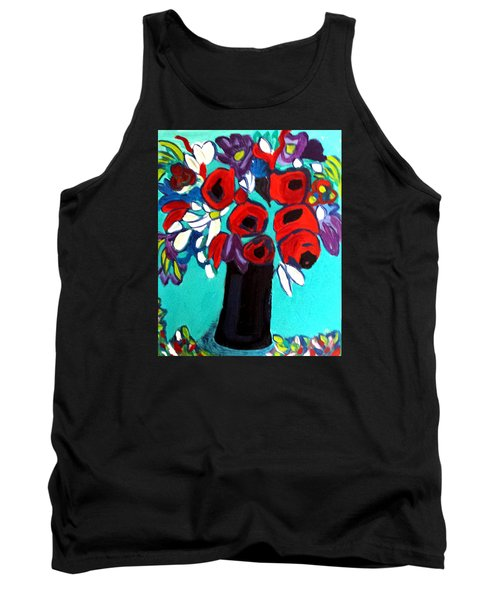 Poppies Red Tank Top