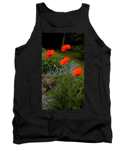 Poppy Foursome Tank Top by Renate Nadi Wesley