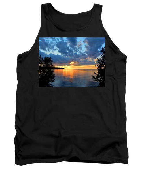 Porcupine Mountains Sunset Tank Top by Keith Stokes