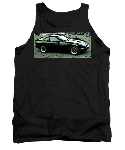 Porsche 944 On A Hot Afternoon Tank Top