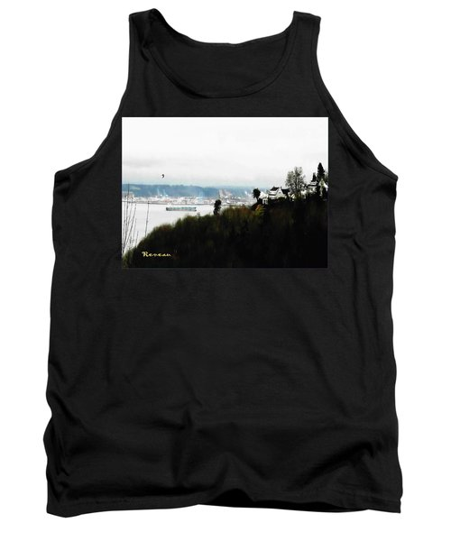 Tank Top featuring the photograph Port Of Tacoma At Ruston Wa by Sadie Reneau