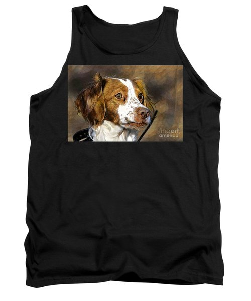 Tank Top featuring the photograph Portrait Of A Brittany - D009983-a by Daniel Dempster