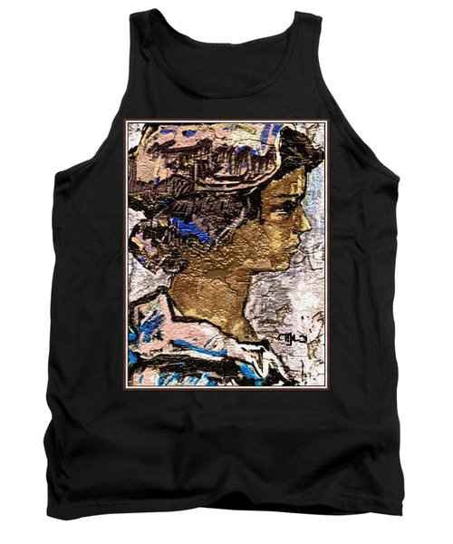Tank Top featuring the digital art Portrait Of A Girl Pog2 by Pemaro