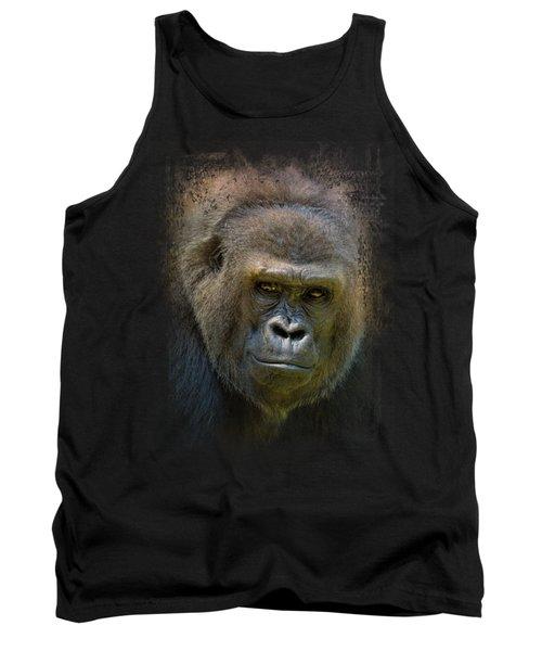 Portrait Of A Gorilla Tank Top by Jai Johnson