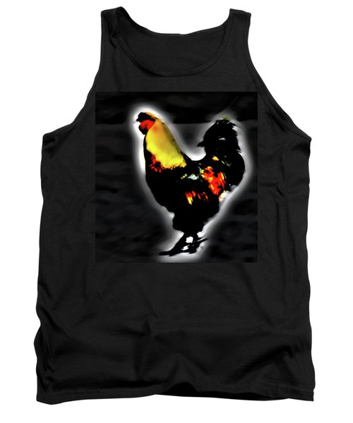 Portrait Of A Rooster Tank Top