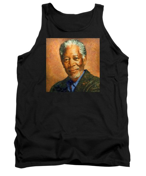 Portrait Of Morgan Freeman Tank Top by Charmaine Zoe