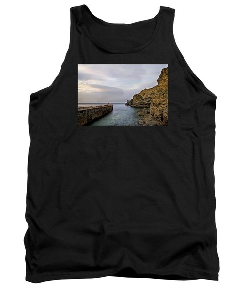 Portreath Harbour, Cornwall Uk Tank Top by Shirley Mitchell