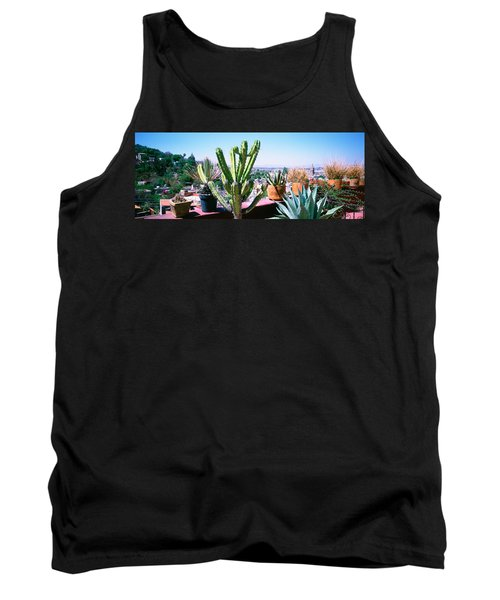Potted Plants On Terrace Of A Building Tank Top