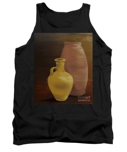 Tank Top featuring the painting Pottery by Annemeet Hasidi- van der Leij