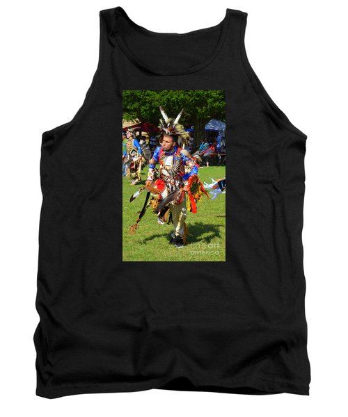 Tank Top featuring the photograph Pow Wow Warrior by Lew Davis