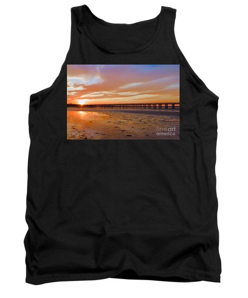 Tank Top featuring the photograph Powder Point Bridge Duxbury by Amazing Jules