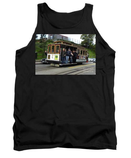 Tank Top featuring the photograph Powell And Market Street Trolley by Steven Spak