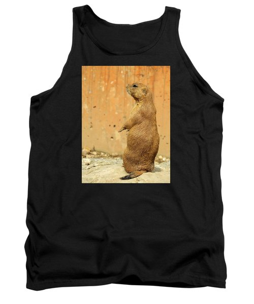 Tank Top featuring the photograph Prairie Dog Profile by Robin Regan