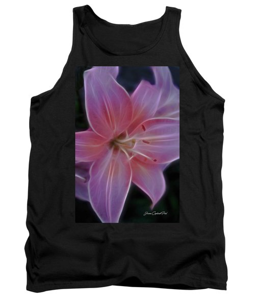 Precious Pink Lily Tank Top by Joann Copeland-Paul