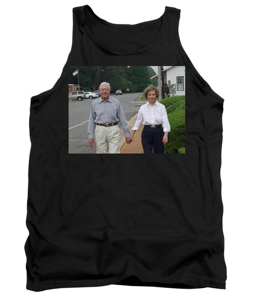 Tank Top featuring the photograph President And Mrs. Jimmy Carter by Jerry Battle