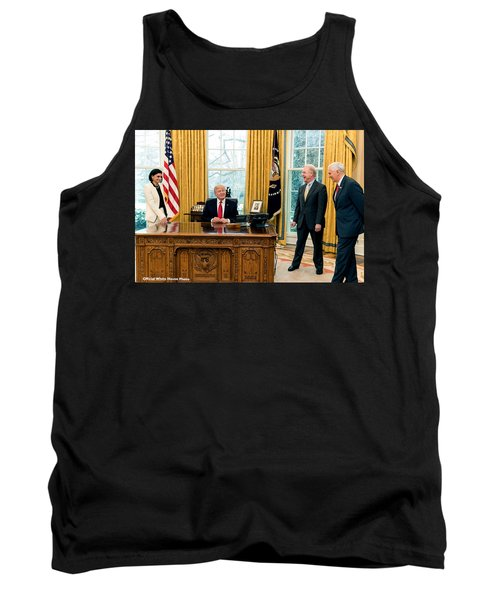 President Donald Trump Tank Top by Charles Shoup