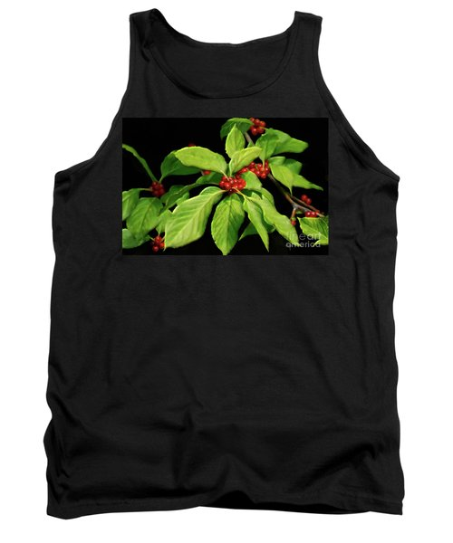 Tank Top featuring the photograph Pretty Little Red Berries by Lois Bryan