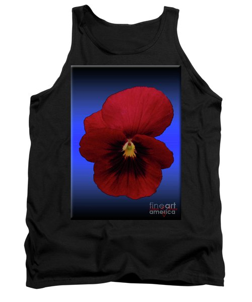 Tank Top featuring the photograph Pretty Pansy by Donna Brown