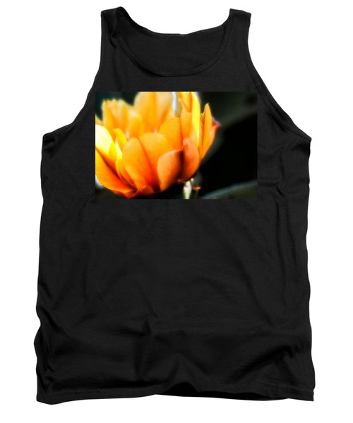 Tank Top featuring the photograph Prickly Pear Flower by Lynn Geoffroy