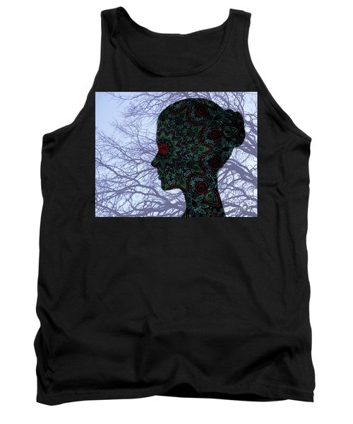 Profile Portrait Of Young Beautiful Woman. Tank Top