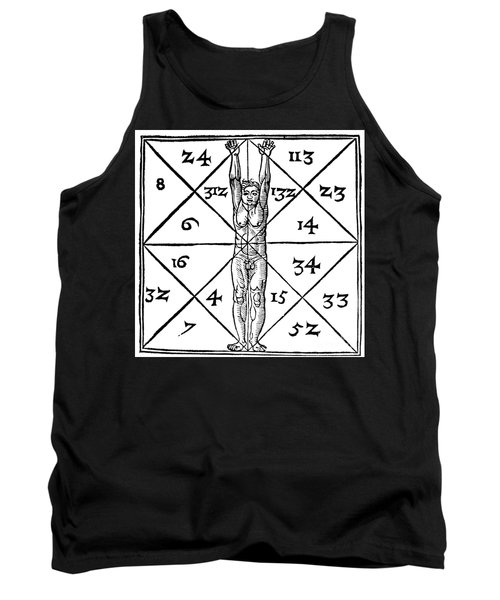 Proportions Of Man And Their Occult Numbers From De Occulta Philosophia Tank Top