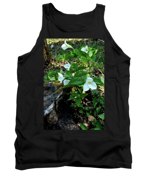 Tank Top featuring the photograph Protected Wild Trillium  by LeeAnn McLaneGoetz McLaneGoetzStudioLLCcom