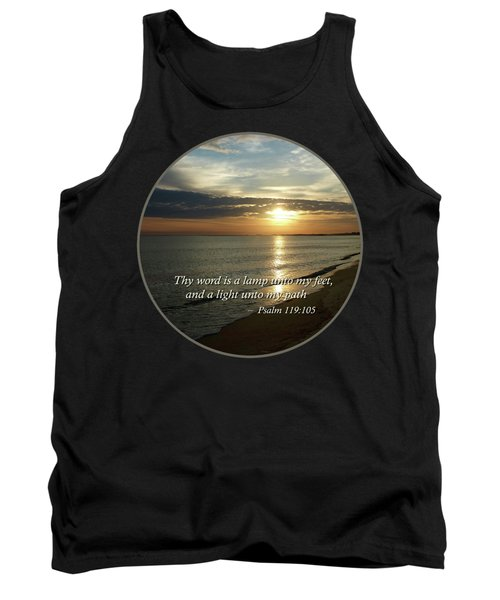 Psalm 119-105 Your Word Is A Lamp Tank Top