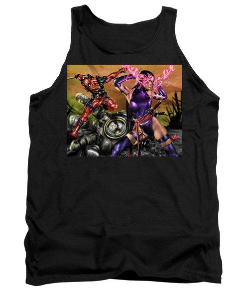 Psylocke And Deadpool Tank Top