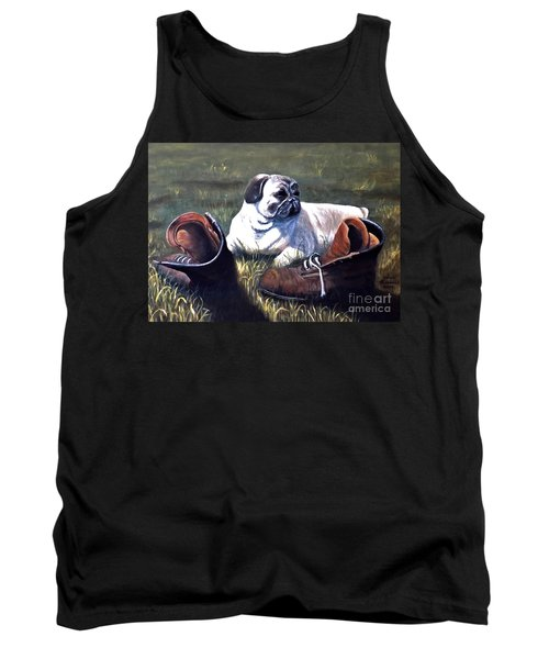 Pug And Boots Tank Top