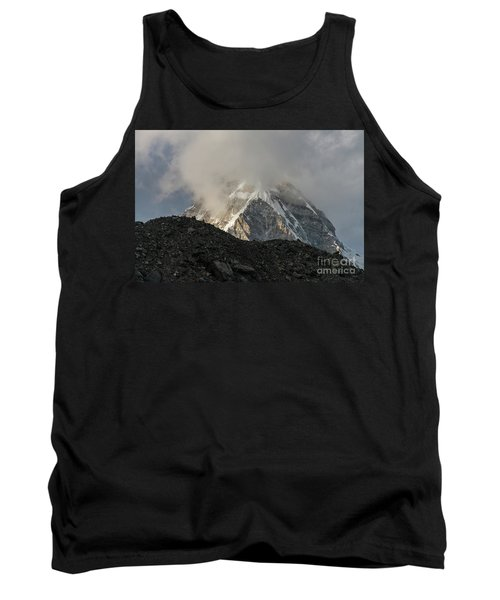 Tank Top featuring the photograph Pumori Dusk Light by Mike Reid