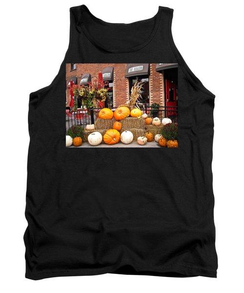 Pumpkin Display Tank Top by Stephanie Moore