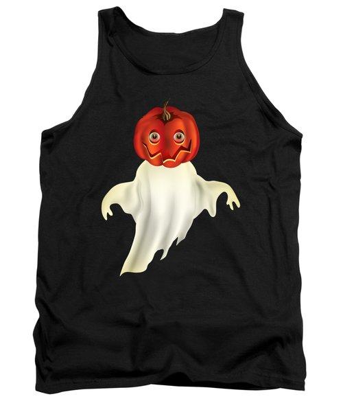 Pumpkin Headed Ghost Graphic Tank Top