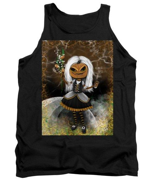 Pumpkin Spice Latte Monster Fantasy Art Tank Top