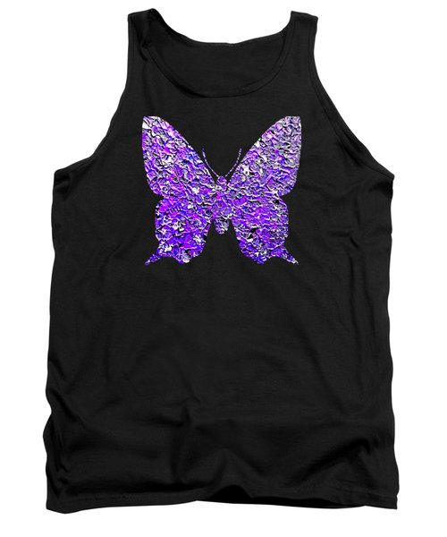 Purple Butterfly  Tank Top