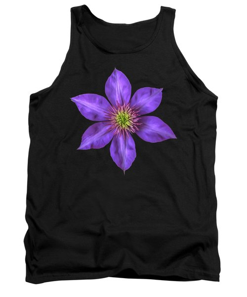 Purple Clematis Flower With Soft Look Effect Tank Top