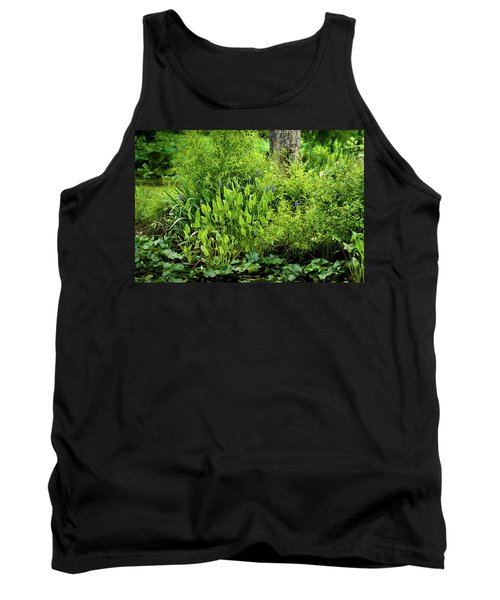 Purple Flowers By The Ponds Edge Tank Top