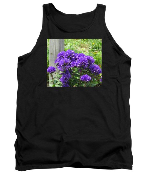 Tank Top featuring the photograph Purple In The Forest by Jeanette Oberholtzer