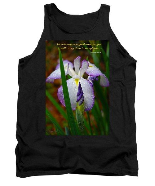Purple Iris In Morning Dew Tank Top
