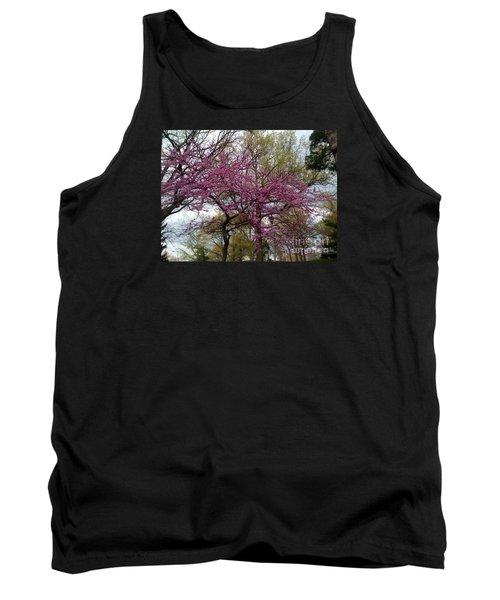 Purple Spring Trees Tank Top