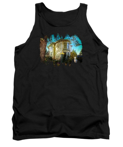 House With The Purple Swing Tank Top by Thom Zehrfeld