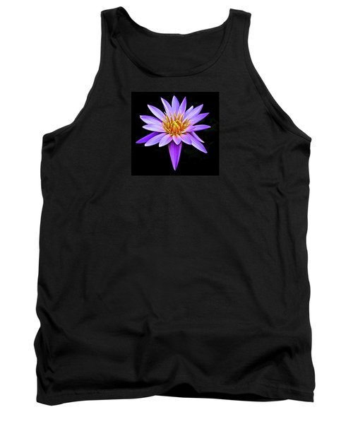 Purple Waterlily With Golden Heart Tank Top by Venetia Featherstone-Witty