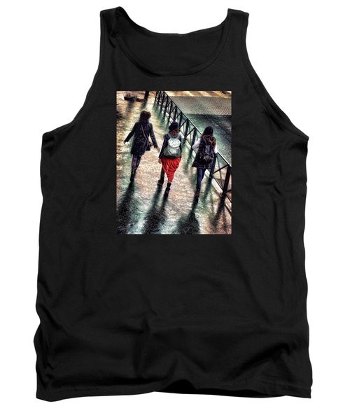 Tank Top featuring the photograph Quai Des Tuileries by Jim Hill