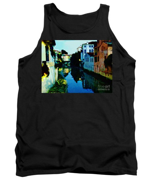 Tank Top featuring the photograph Quaint On The Canal by Roberta Byram