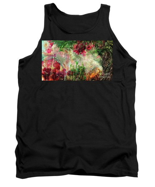 Tank Top featuring the digital art Qualia's Jungle by Russell Kightley
