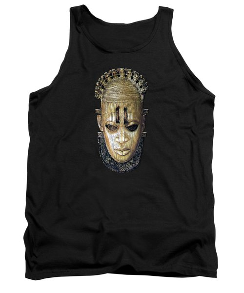 Queen Mother Idia - Ivory Hip Pendant Mask - Nigeria - Edo Peoples - Court Of Benin On Red Velvet Tank Top