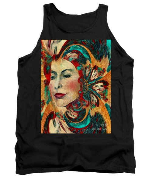 Tank Top featuring the digital art Queenie by Alexis Rotella