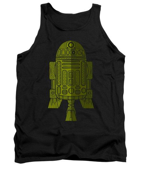 R2d2 - Star Wars Art - Green 2 Tank Top
