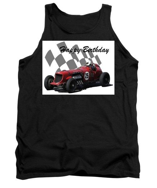Racing Car Birthday Card 3 Tank Top